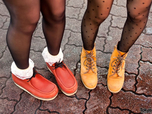 Wallabees & Yellow Boots
