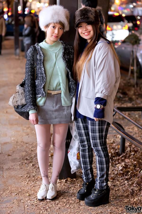 Harajuku Girls in Sweater Set & Mini-Skirt