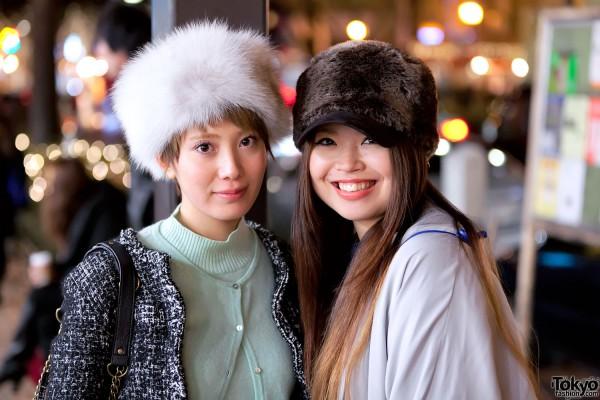 Fur Hats in Harajuku