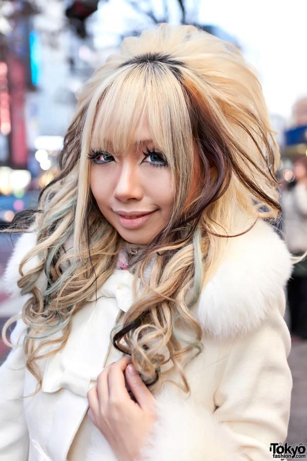 Green Streaked Shibuya Hairstyle