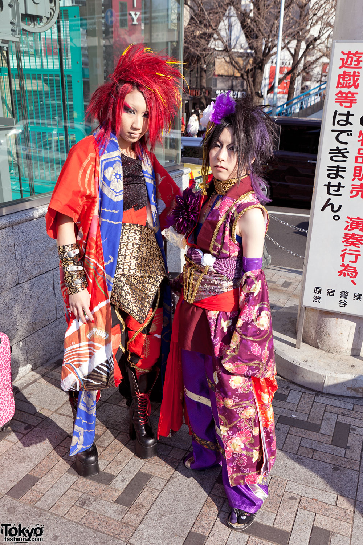 Harajuku Kimono Gothic Punk Mix Street Style Tokyo