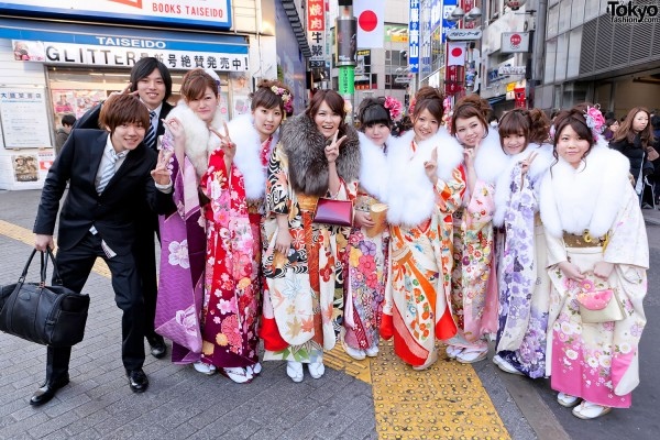 Kimono in Tokyo on Coming of Age Day