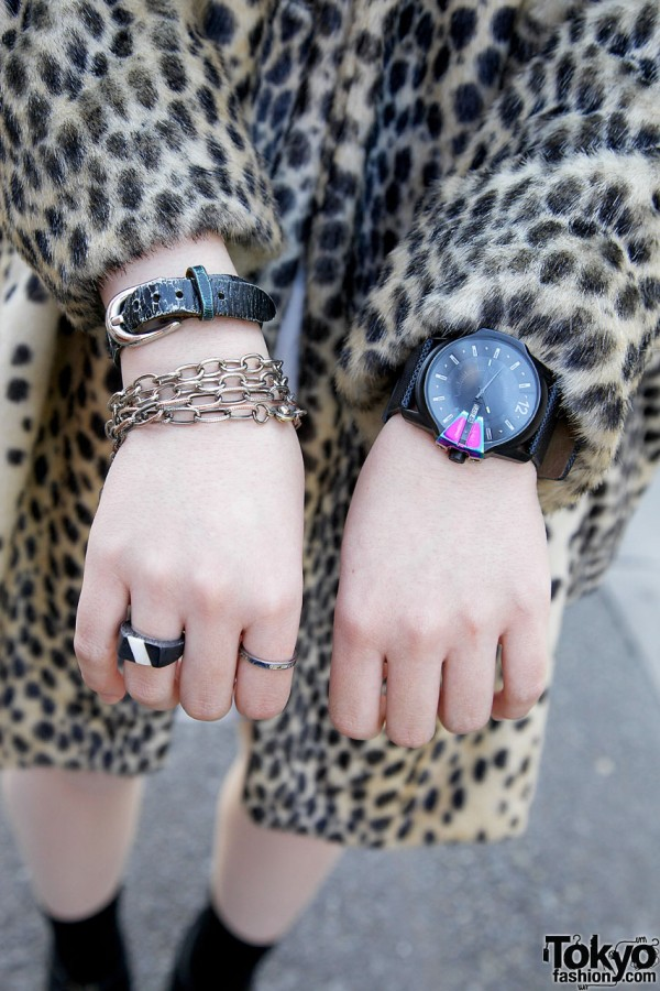 SAS watch & chain bracelet in Harajuku