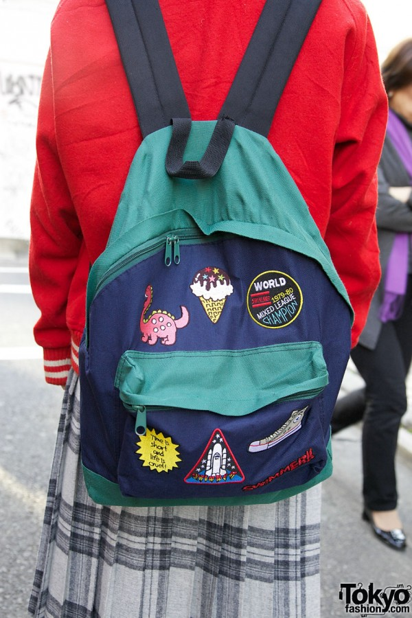 Swimmer Patch Backpack in Harajuku