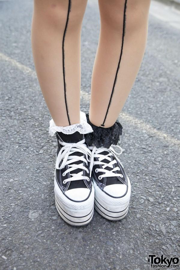 Stockings, Ruffle Socks & Platform Converse