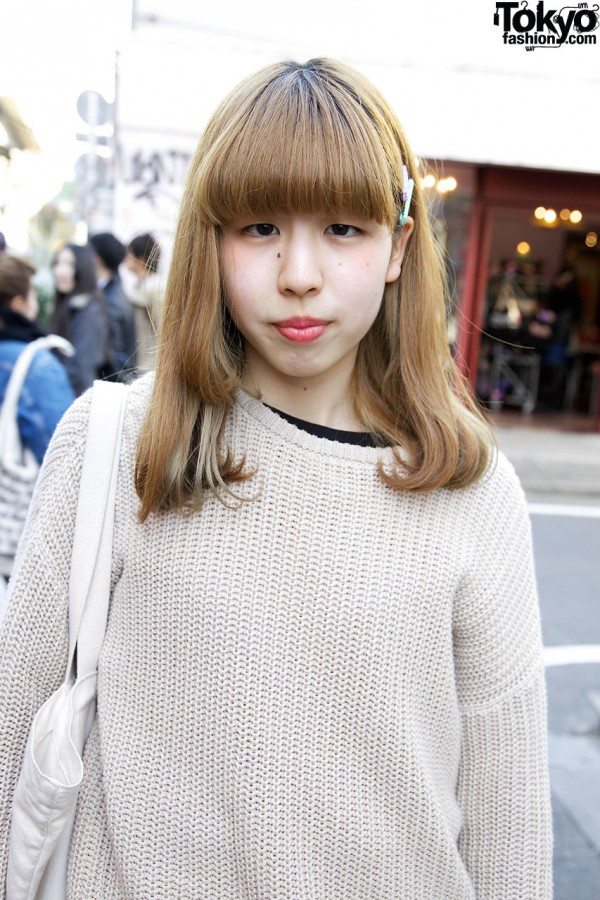 American Apparel sweater in Harajuku