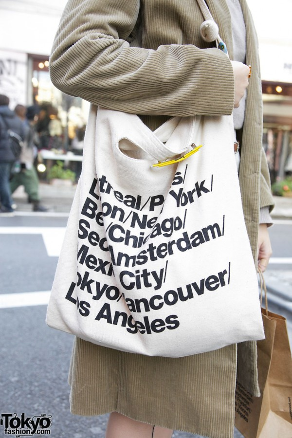 American Apparel tote in Harajuku