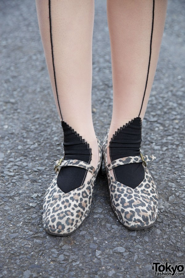 Animal print shoes from used clothing shop in Harajuku