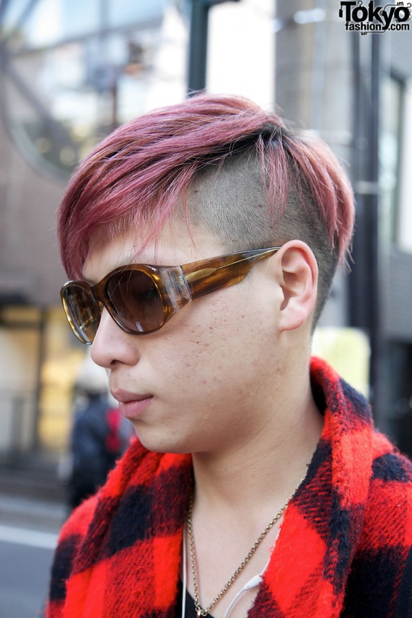 Harajuku Guy With Pink Hair & Sunglasses
