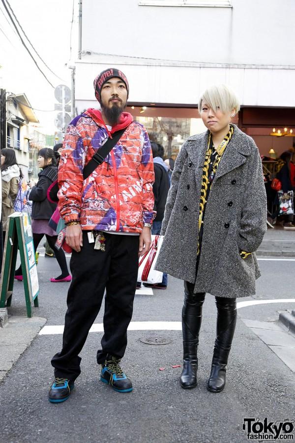 Guy's Taiwan Jacket & Hype Beanie vs. Girl's Chanel Shirt & Handmade Leggings