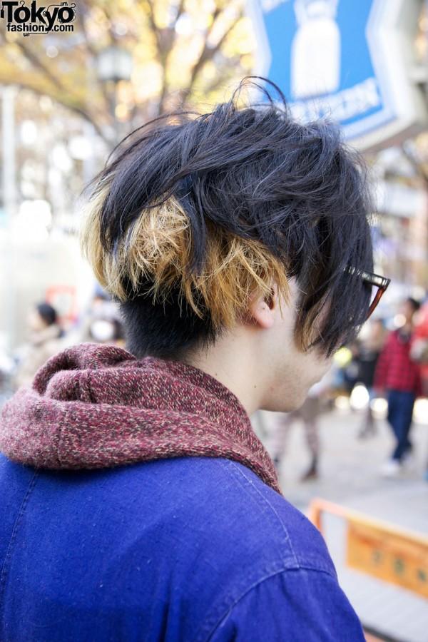 Two tone hair in Harajuku