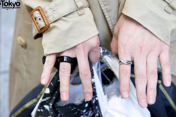 Black & silver rings in Harajuku
