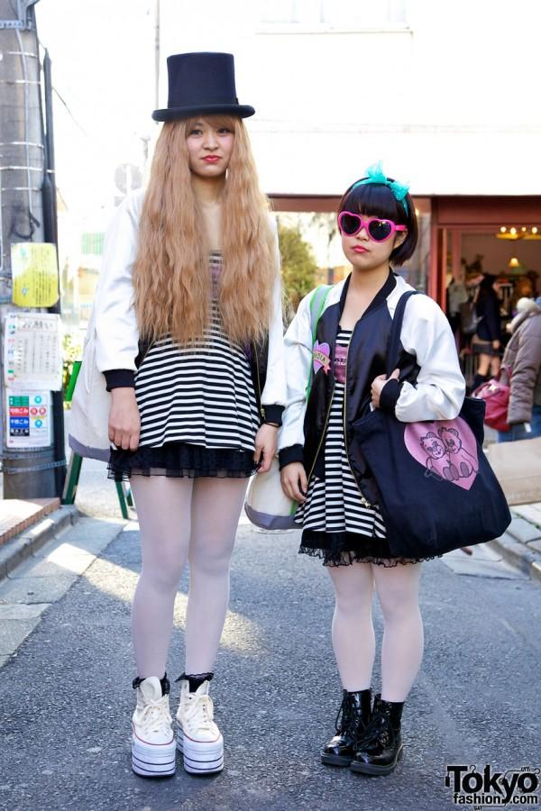 Nadia Harajuku Pair Look Girls w/ Satin Jackets & Top Hat