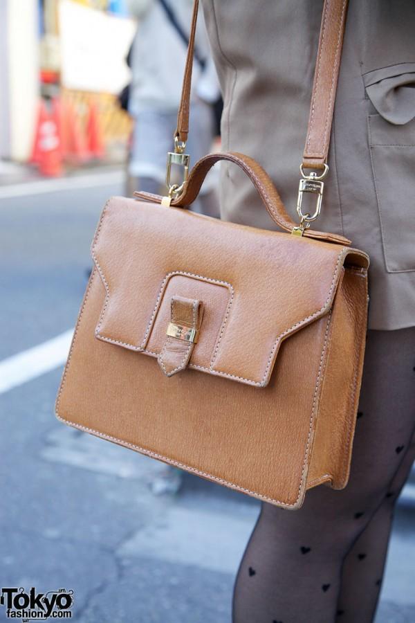 Courreges leather purse in Harajuku