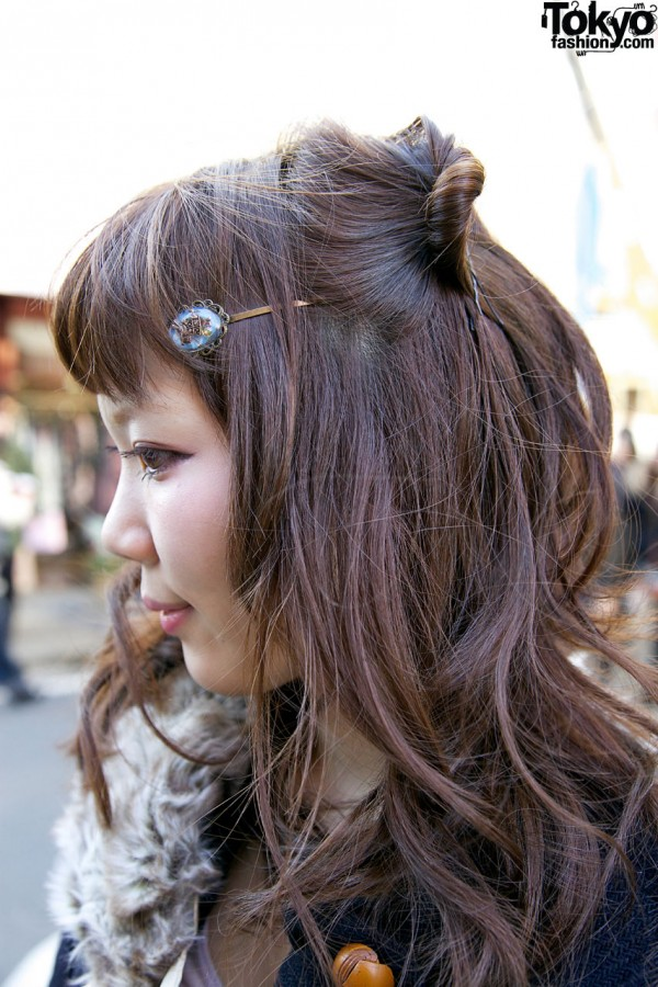 Antique Hair Clip in Harajuku