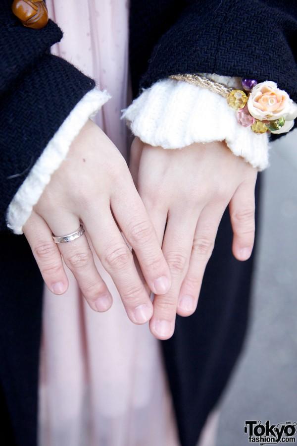 Flower Bracelet & Silver Ring