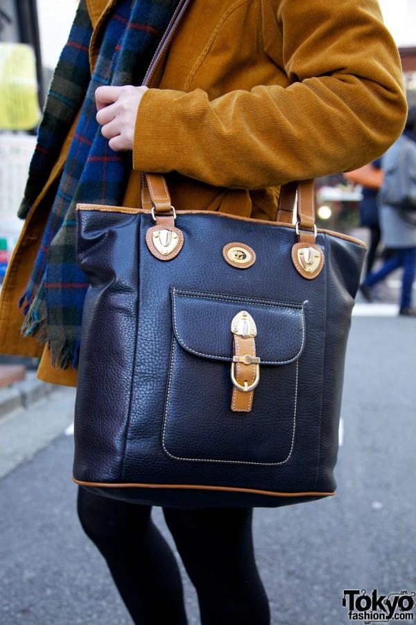 Vintage Leather Purse in Harajuku