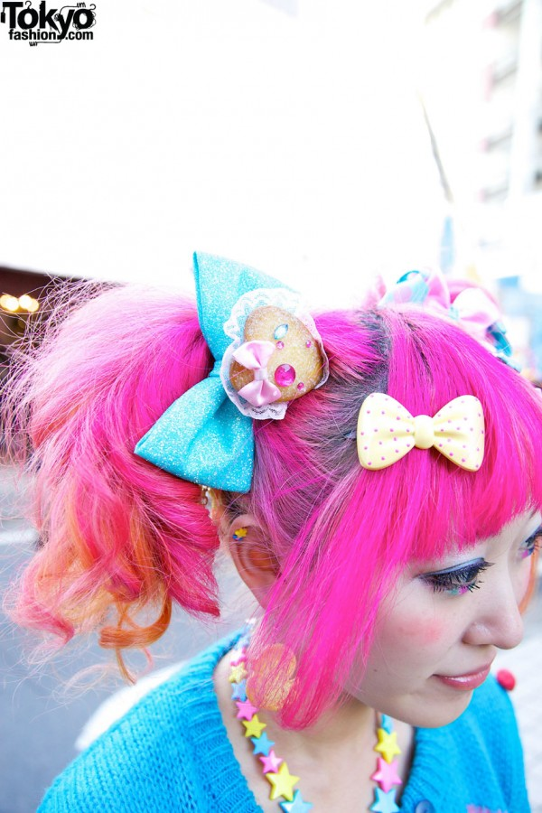 Pink Hair & Sweets Hair Clips