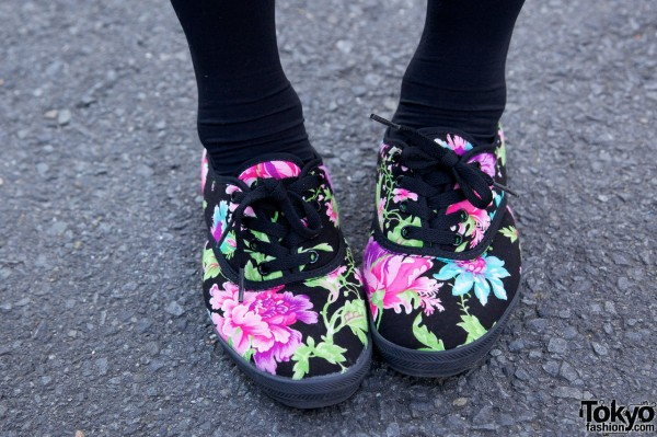 Flower Pattern Shoes from South Korea