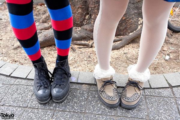 Striped Socks, Platform Converse & Creepers