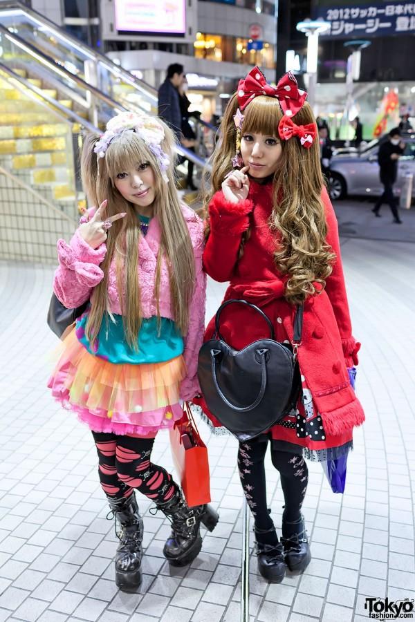 Colorful Lolita Fashion & Tulle Skirt in Shibuya