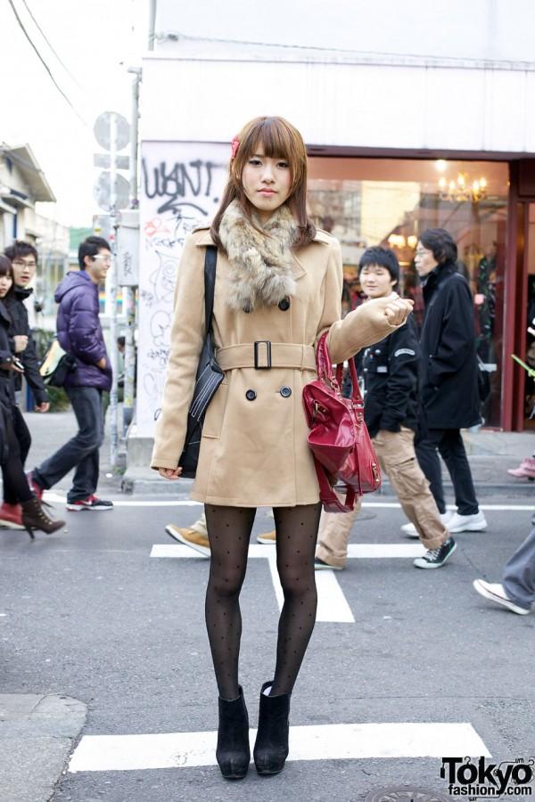 ANAP Coat & Fur Collar in Harajuku