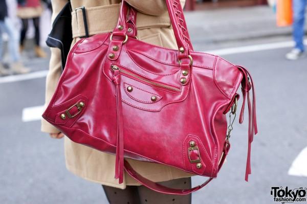 Red INGNI purse in Harajuku