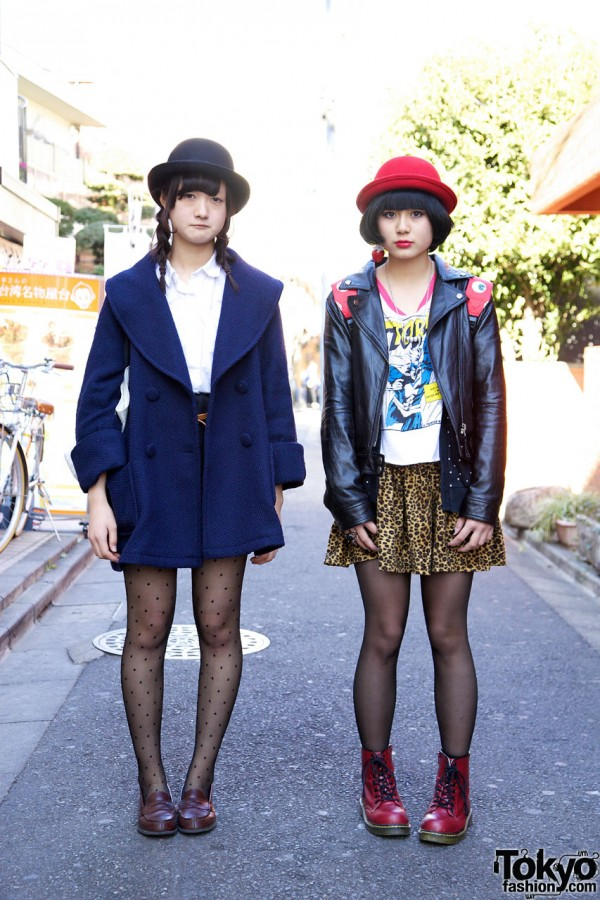 Girls in Derby Hats in Harajuku