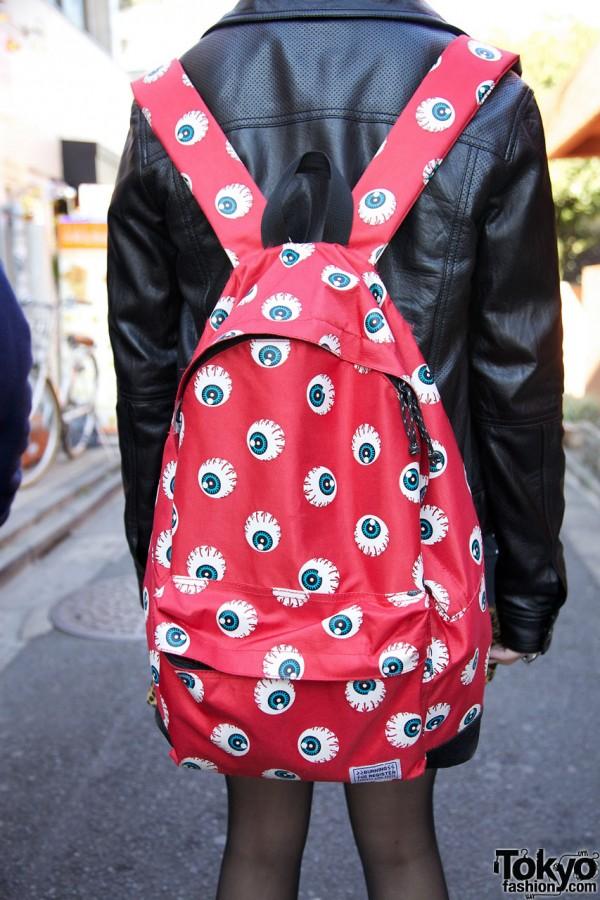 Eyeball festooned backpack from Village Vanguard
