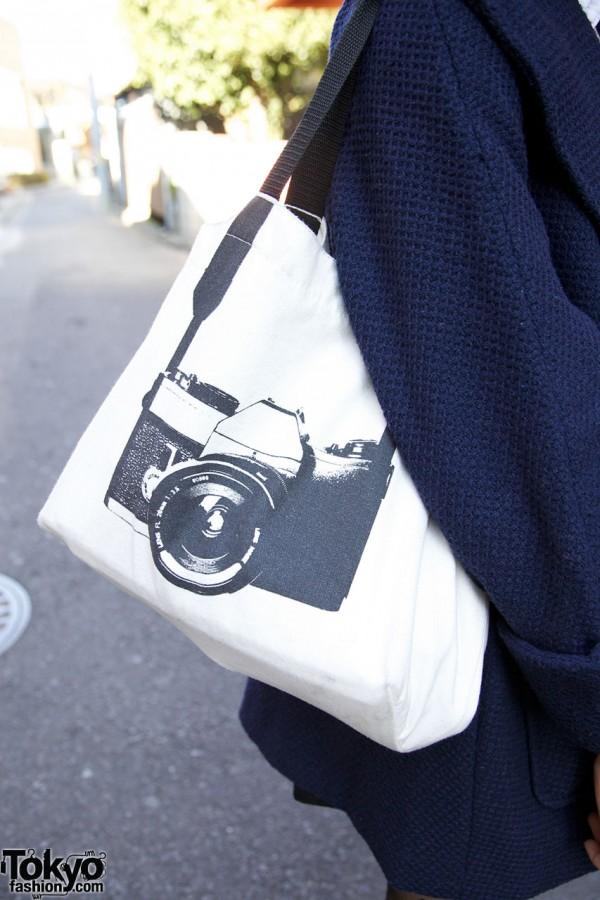Bag with camera print in Harajuku