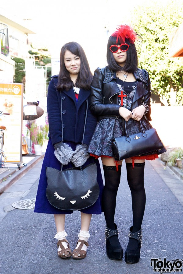 Glad News Leather Jacket & W Closet Pea Coat in Harajuku