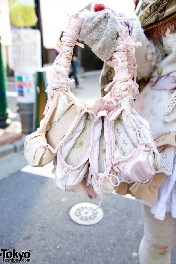 Handmade Ballet Shoes Handbag in Harajuku