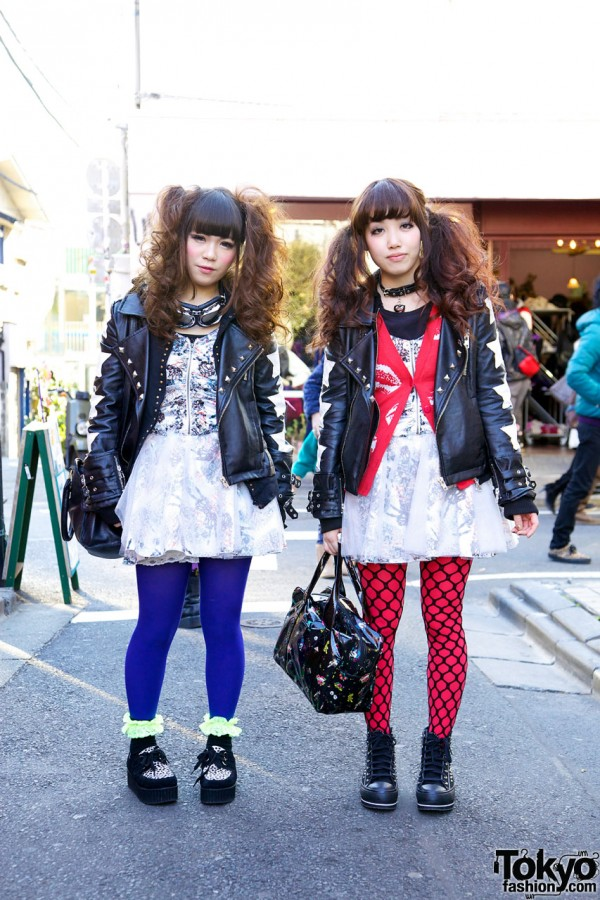 Bad Girl Twins in tutuHA Leather Jackets & Glad News Dresses