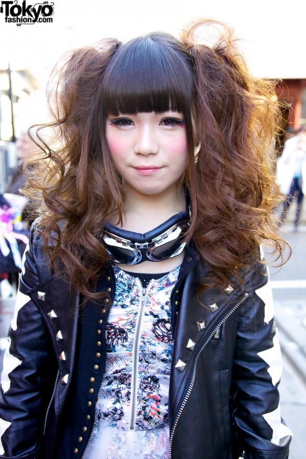 Studded TutuHA leather jacket in Harajuku
