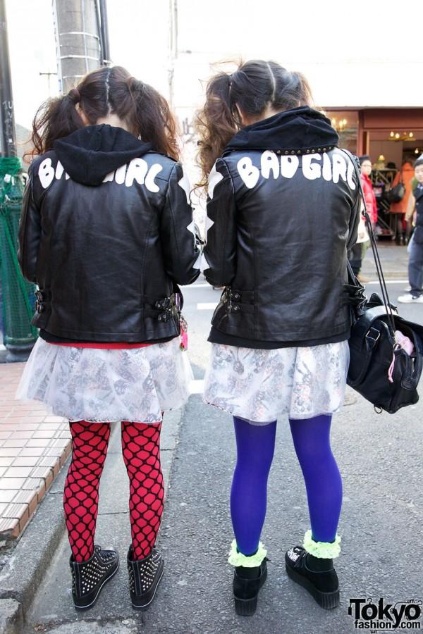 Bad Girl leather jackets from TutuHA in Harajuku