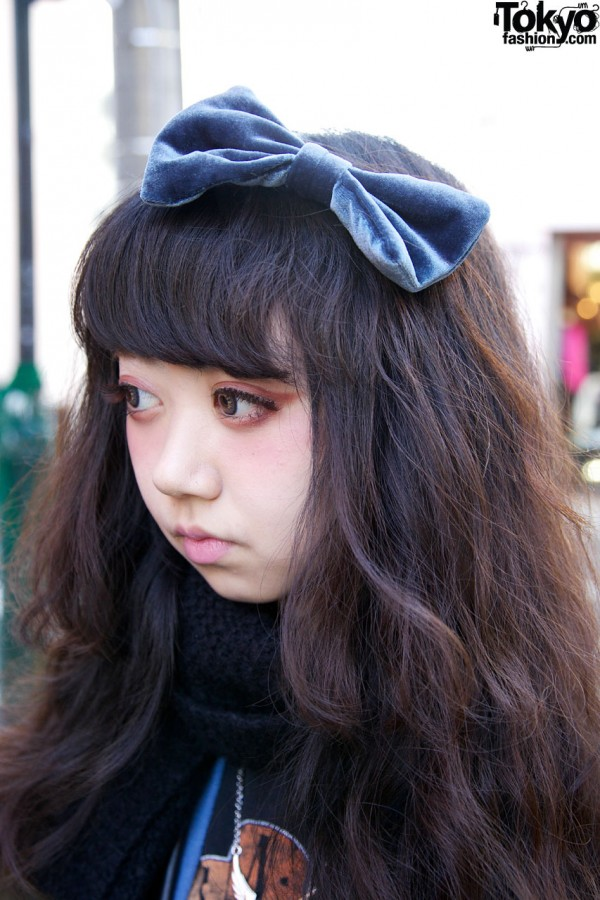 Cute Hair Bow in Harajuku