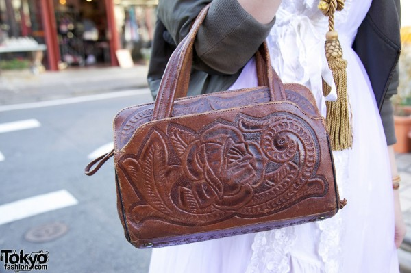 Tooled leather purse in Harajuku