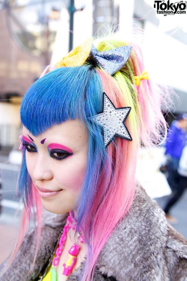 Harajuku Silver Star Hairclip from 6%DOKIDOKI