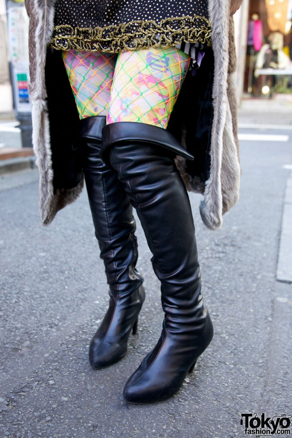 Over-The-Knee Boots in Harajuku