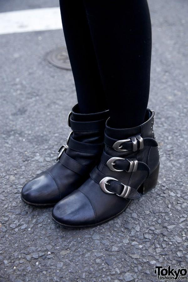 Dual Buckle Boots Harajuku