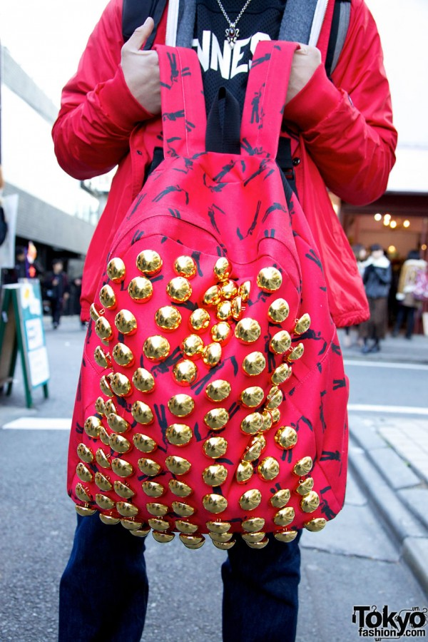 Revolver and Phenomenon Red & Gold Backpack