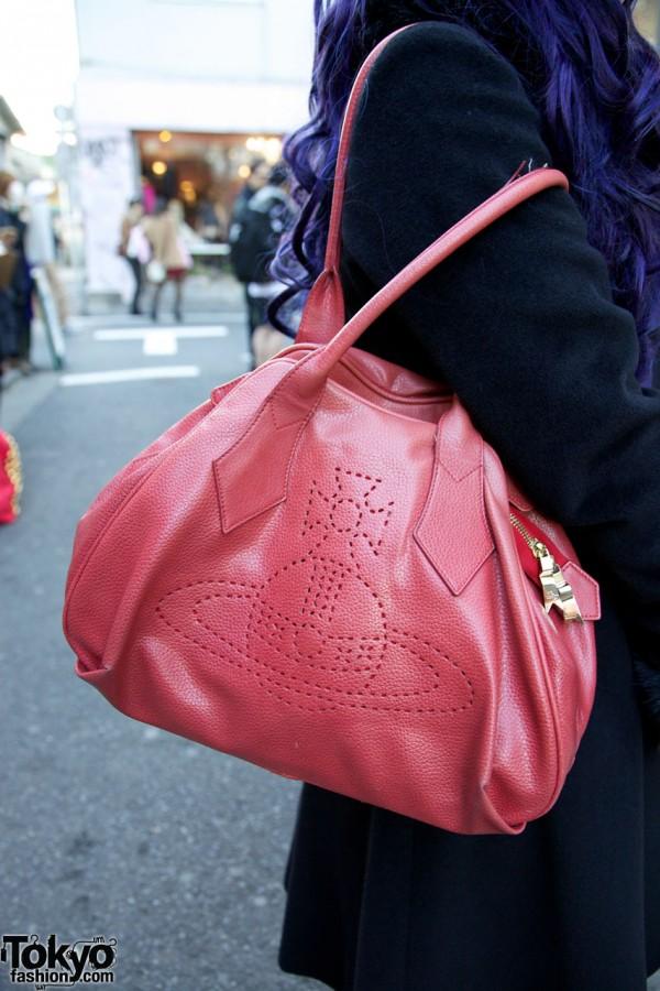 Red Vivienne Westwood purse in Harajuku