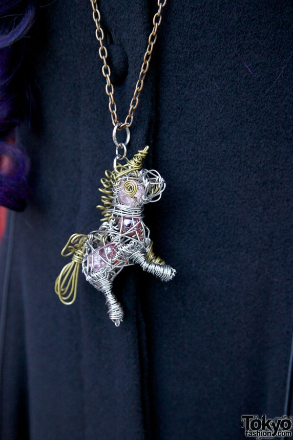 Handmade unicorn pendant in Harajuku