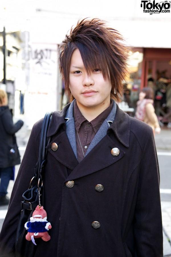 Double breasted coat in Harajuku