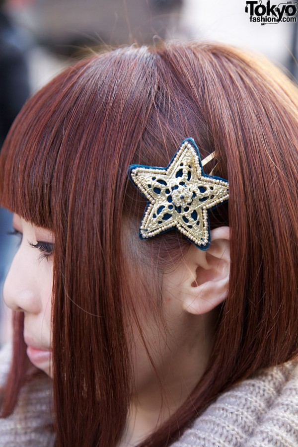 Star hair ornament in Harajuku