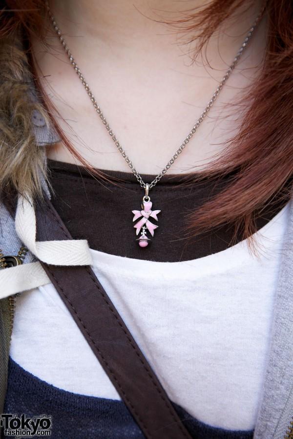 Vivienne Westwood necklace in Harajuku