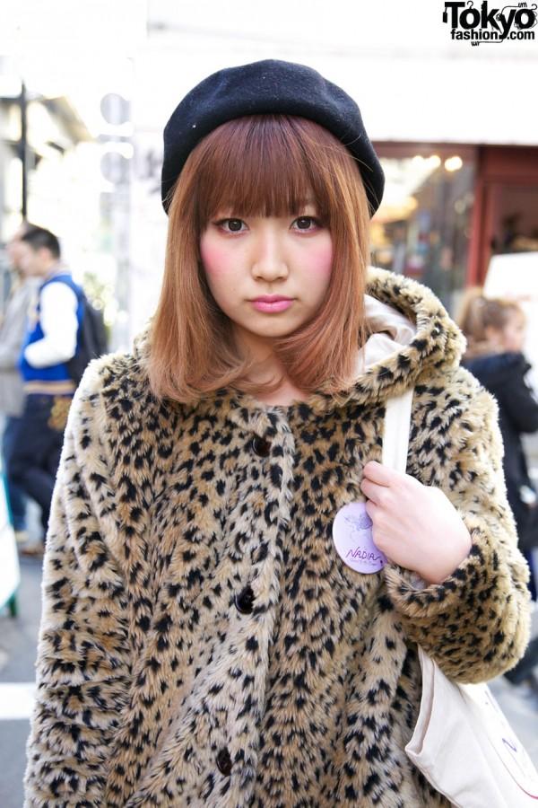 Nadia Harajuku Leopard-Print Jacket