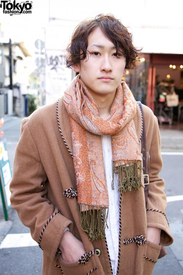 Fringed paisley scarf in Harajuku