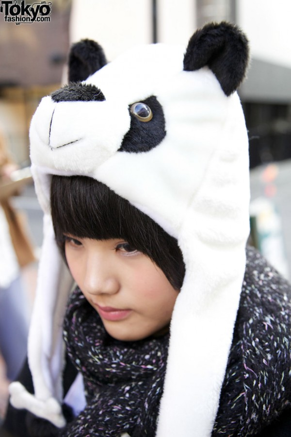 Cute Panda Hat in Harajuku