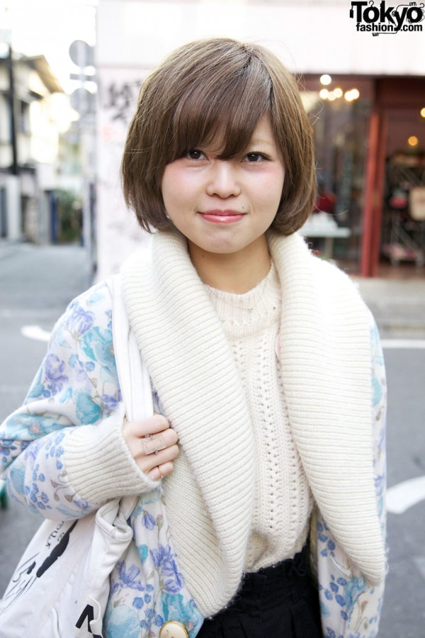 Short Japanese Hairstyle in Harajuku